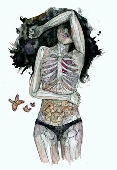 Juxtapoz Magazine - Translucent Figures from Meggie Wood Arte Com Grey's Anatomy, Anatomy Art, Inspiration Art, Art Inspo, Art Sketches, Art Drawings, Illustration Art, Illustrations, Ap Art