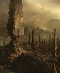 Montagne, par Craig Mullins (Spirale temporelle).