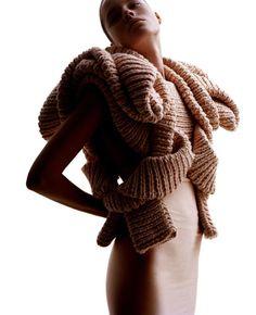 Innovative knitwear fashion by Swedish designer Sandra Backlund