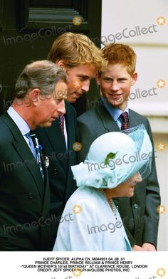 "Jeff Spicer_alpha Cn_m044951 04_08_01 Prince Charles, Prince William & Prince Henry -""Queen Mother's 101st Birthday"" at Clarence House, London Credit: Jeff Spicer/alpha/Globe Photos, Inc."