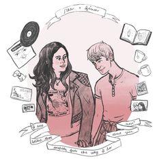 Rae & Finn by Rebecca Rahrer 2014.  My Mad Fat Diary