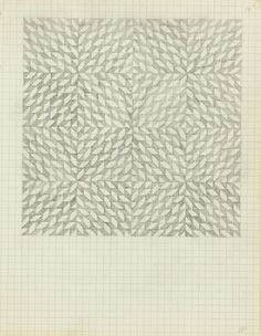 Drawing from Anni Albers, since we're on a slight theme of abstract graphite drawings  rerylikes:    Anni Albers. Drawing from a notebook, 1970.  Pencil on paper, 25.4 x 19.685 cm  [found at workman, jbe200 & fatherrabbitinteriors]