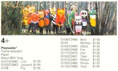 American price list for Playsacks wearable paper costumes, United Kingdom, 1971, designed by Fredun Shapur for Trendon Toys, distributed by Creative Playthings in the United States and Canada.