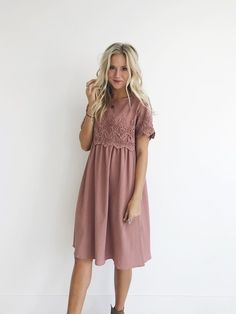674572faa5e Desert Rose Lace Top Dress - From ROOLEE (my new favorite dresses site!