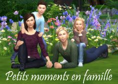 family pose famille sims 4 téléchargement download