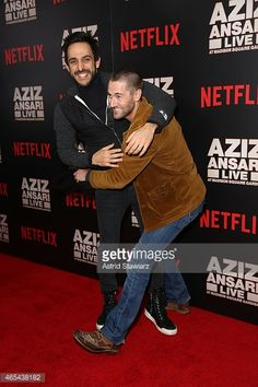Amir Arison and Ryan Eggold attends 'Aziz Ansari: Live at Madison Square Garden' New York Screening at Crosby Street Hotel on March 6, 2015 in New York City.