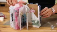Heidi Swapp: Glue Back Binding. Join Heidi Swapp as she shares a new way to create a custom sized mini album that can stand flat or create a... journal, size mini, paper, mini albums, book, minialbum
