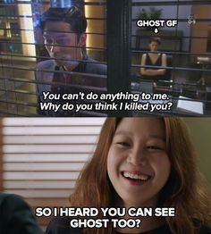 Haha so funny; I heard you can see ghost too? #MyLoveFromAnotherStar #TheMastersSun