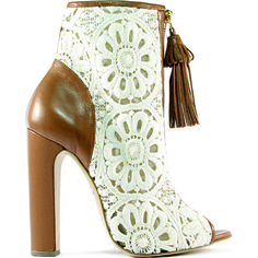 Heels I Love... Sophie Gittins leather-trimmed lace boot