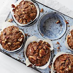 Gingerbread Muffins with Spiced Nut Streusel | MyRecipes.com