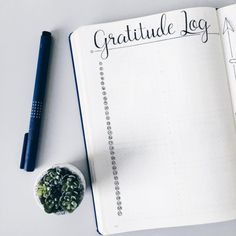 This minimalist layout to note one thing you're grateful for each day, which is great for your mental health: | 21 Genius Ways To Track Your Mental Health