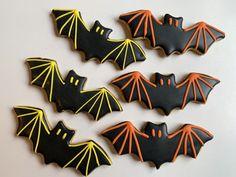 Halloween 2019 Bat Sugar Cookies Halloween Food For Party, Halloween Bats, Halloween Birthday, Halloween 2019, Davids Cookies, Halloween Sugar Cookies, Fancy Cookies, Cookie Desserts, Special Occasion