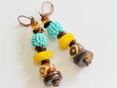 Afrocentric+Dangle+Earrings+Island+Dangle+by+ZenCustomJewelry,+$16.00