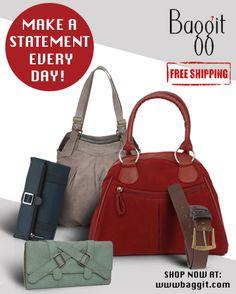 A belt, a wallet and a sassy handbag-all wardrobe essentials for the urban woman.