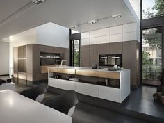 LINEAR FITTED KITCHEN WITH HANDLES OPERA | LINEAR KITCHEN | SNAIDERO