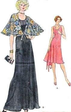 1970s Dress Pattern Vogue 9063 Day or Evening by paneenjerez, $10.00