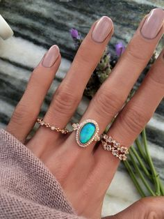 14kt rose gold and diamond opal bezel ring – Luna Skye