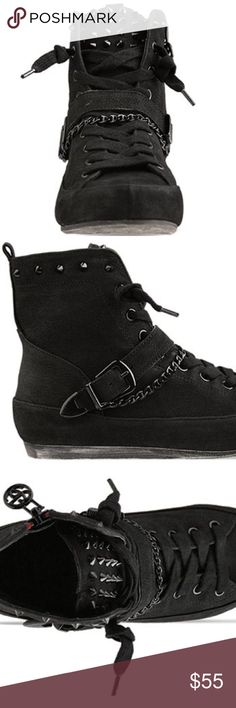 Same Edelman Alexander Sneaker Sassy, hi-top sneakers from Sam Edelman. Black colored, leather material, flat, high-top and heel style describe this item. Excellent condition, comes with box. No trades, no PayPal. Make an offer! Sam Edelman Shoes