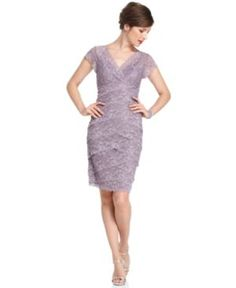 pretty dusty lavender lace dress for the mother of the bride (or groom)