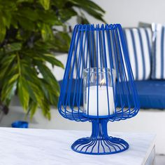 Piper Metal Candle Holder, Mediterranean blue $69.95 shop it here http://www.oasishomewares.com/host-a-party/book-an-Oasis-party.html