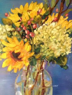 """Warm Bouquet"" original fine art by Libby Anderson"