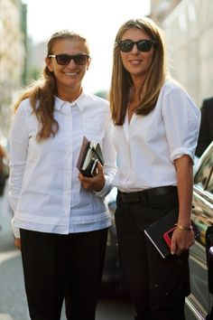 White shirts on women. Women (and men too) can never have enough.  www.askamantoo.com  @askamantoo