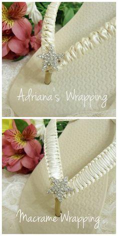 Ivory Bridal Flip Flops