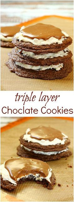 Triple Layer Chocolate Cookies » Call Me PMc