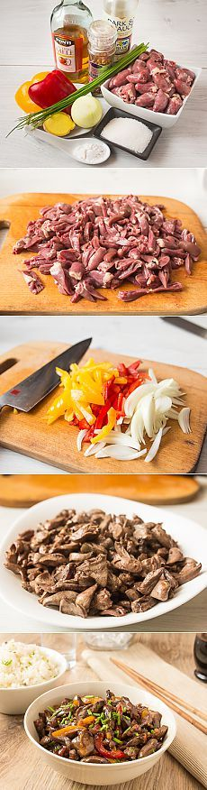 Стир-фрай из куриных сердечек - Пошаговый рецепт с фото | Вторые блюда | Вкусный блог - рецепты под настроение
