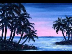 Dusk at the Lake (4x6) / Small & Simple Oil Painting Exercise - YouTube