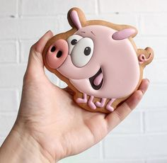 55 Best Ideas For Cake Designs Birthday Cute Pig Cookies, Galletas Cookies, Iced Cookies, Cute Cookies, Cupcake Cookies, Sugar Cookies, Cupcakes, Cookie Icing, Royal Icing Cookies