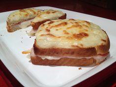 Receta de Sandwich estilo Asia, muy parecido al famoso croque monsieur.
