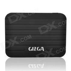 GIZGA Universal Dual USB Output 10400mAh Li-po External Power Bank for IPHONE / Cellphone - Black