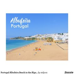 Portugal Albufeira Beach in the Algarve Postcard - travel photos wanderlust traveling pictures photo Albufeira Portugal, Sailing Gifts, Water Photography, Photography Gifts, Algarve, Windsurfing, Big Challenge, Beautiful Beaches, Travel Photos