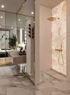 Luxury Bathroom Master Baths Marble Counters is definitely important for your home. Whether you choose the Luxury Bathroom Master Baths Photo Galleries or Luxury Bathroom Ideas, you will make the best Interior Design Ideas Bathroom for your own life. Luxury Interior Design, Bathroom Interior Design, Home Design, Design Ideas, Bath Design, Marble Interior, Gold Interior, Classic Interior, Interior Ideas