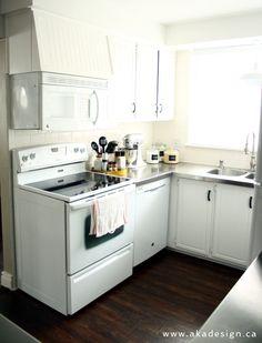 oven range dishwasher Our Imperfect White Kitchen
