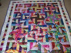 Spiral Strips Quilt | Craftsy