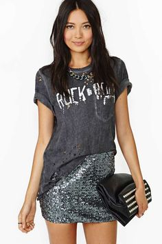 Disco Revival Sequin Skirt | Shop Sale at Nasty Gal