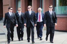 Groomsmen with sunglasses on