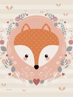 Leading Illustration & Publishing Agency based in London, New York & Marbella. Woodland Animals Theme, Woodland Creatures, Cute Images, Cute Pictures, Image Deco, Fox Party, Baby Posters, Cute Illustration, Cute Drawings