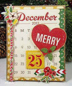 Hello December card #2 by tkcspot - Cards and Paper Crafts at Splitcoaststampers