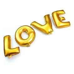 """Love lettre - 16 """"/ 40 cm Aluminium lettres ballons pour mariage Doré"""