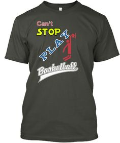 Can't  Stop Play Smoke Gray T-Shirt Front