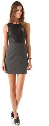 Theory - Trionne C Dress With Leather Top - $355.00 - Click on the image to shop now