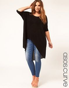 Enlarge ASOS CURVE Jersey Top With Dip Back