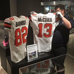 Browns jersey s worn by  JoshMcCown12 and  garybarnidge now on display ed3febe39