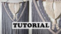 Textiles, Macrame Design, Macrame Tutorial, Macrame Knots, Macrame Patterns, Youtube, Wall Hangings, Showroom, Jewel