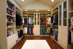 Amazing closet that feels like a high end boutique traditional closet