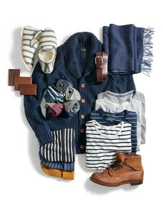 J.Crew Present-topia picks for Mr. Rugged. He likes a chunky cardigan even though he gets his firewood from the local deli.