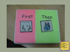 Visual Schedule Series: First-Then Schedules (Freebie!!) by Autism Classroom News: http://www.autismclassroomnews.com